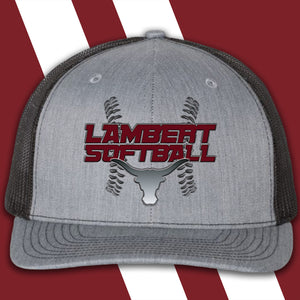 Lambert Softball Embroidered-logo Richardson Trucker Cap