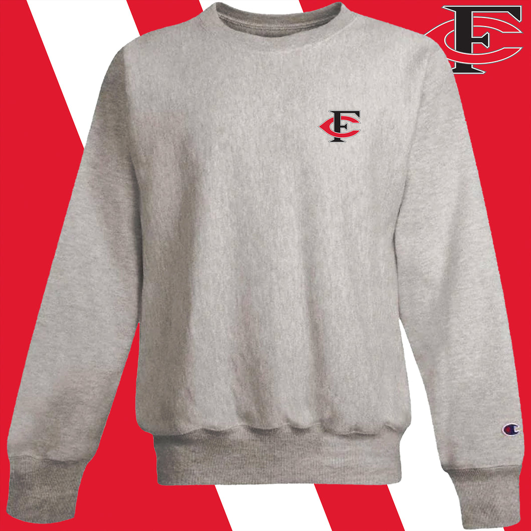 Forsyth Central Embroidered-logo Champion Crew Sweatshirt