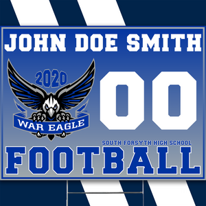 South Forsyth Personalized War Eagle Yard Sign