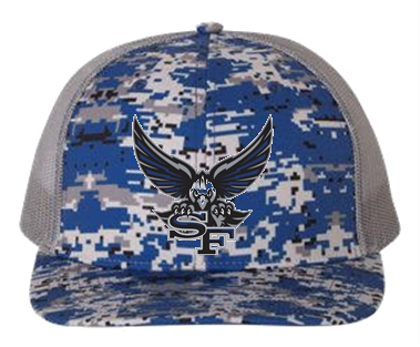 SF War Eagle Embroidery Logo Richardson Patterned Snapback Cap