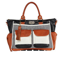 Load image into Gallery viewer, Coffee & Cream Triple Threat Diaper Bag