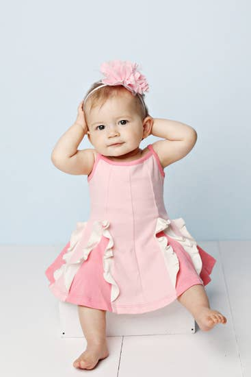 Baby Easy Twirl Dress-Pink