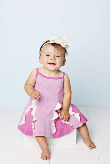 Baby Easy Twirl Dress-Purple