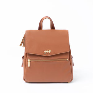 Freshly Picked Mini Classic Diaper Bag-Cognac