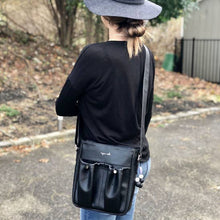 Load image into Gallery viewer, Anjie + Ash Crossbody Parent Bag-Black