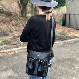 Anjie + Ash Crossbody Parent Bag-Black