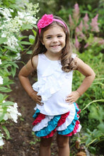 Load image into Gallery viewer, Ruffle Skort-Red/White/Blue