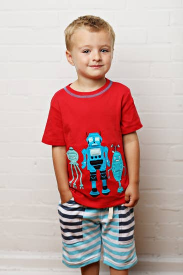 Three Musketeers Robot Tee