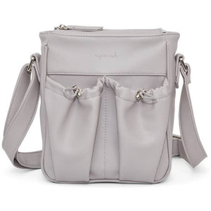 Anjie + Ash Crossbody Parent Bag-Fog