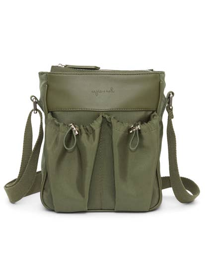 Anjie + Ash Crossbody Parent Bag-Olive