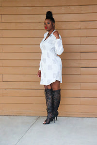 Four Page Letter Shirt Dress
