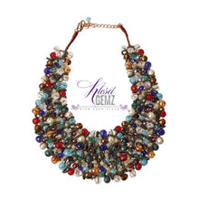 Load image into Gallery viewer, Copper Bib Statement Necklace