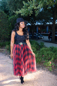 Sheer Plaid | Falda