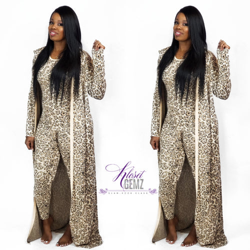 Leopard Duster Set