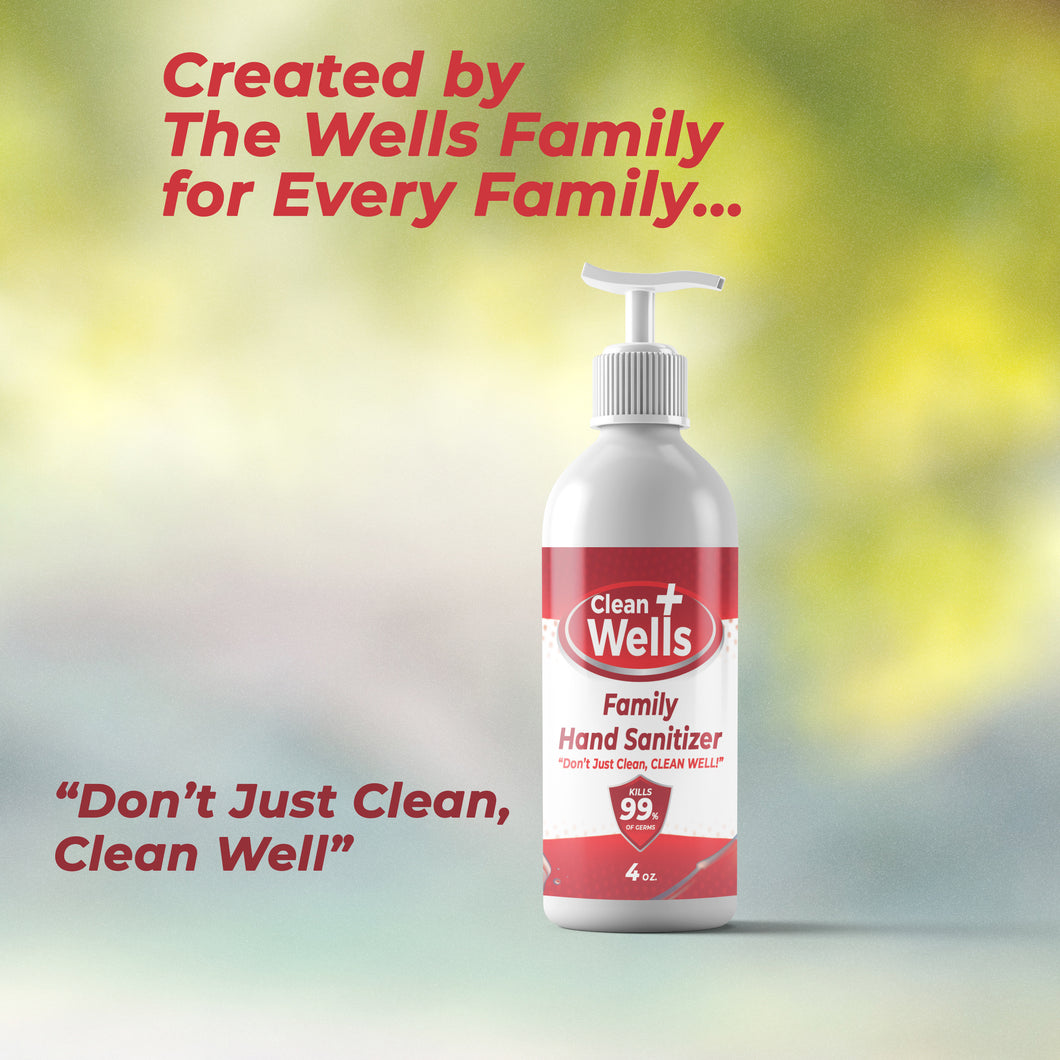 6 oz & 4 oz Clean Wells Hand Sanitizer
