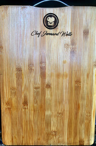 Chef Jernard Custom Engraved Chopping board with handle