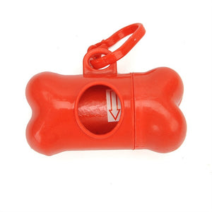 Pet Waste Bag Dispenser For Dog Poop / Bags Bone Shape Plastic / Dispenser Holder with Bags