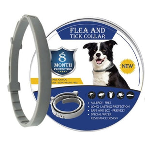8 Month Duration / Flea & Tick Prevention Collar for Dog / Mosquitoes Repellent Collar Insect