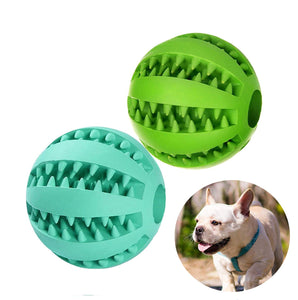 Dog Toys / Toothbrush Clean Ball Food / Extra-tough Rubber Interactive Ball