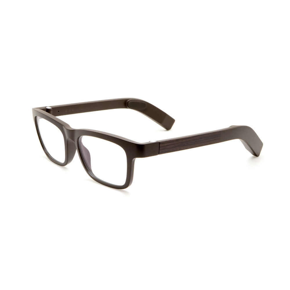 Classic Eyeglasses VUE GLASSES Brown Wood No Lenses Non-corrective