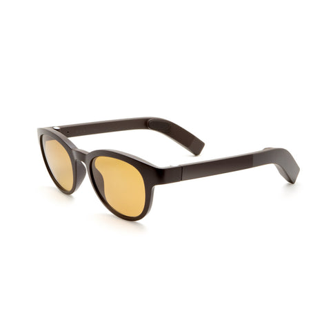 Trendy Sunglasses VUE GLASSES Chocolate Brown Tinted Black Non-corrective