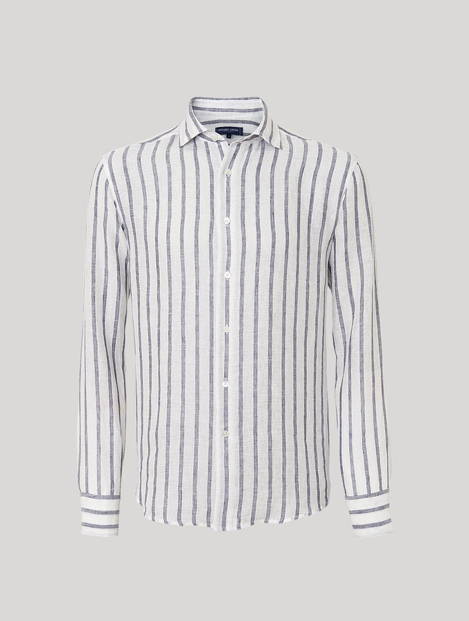 Classic Striped Linen Shirt