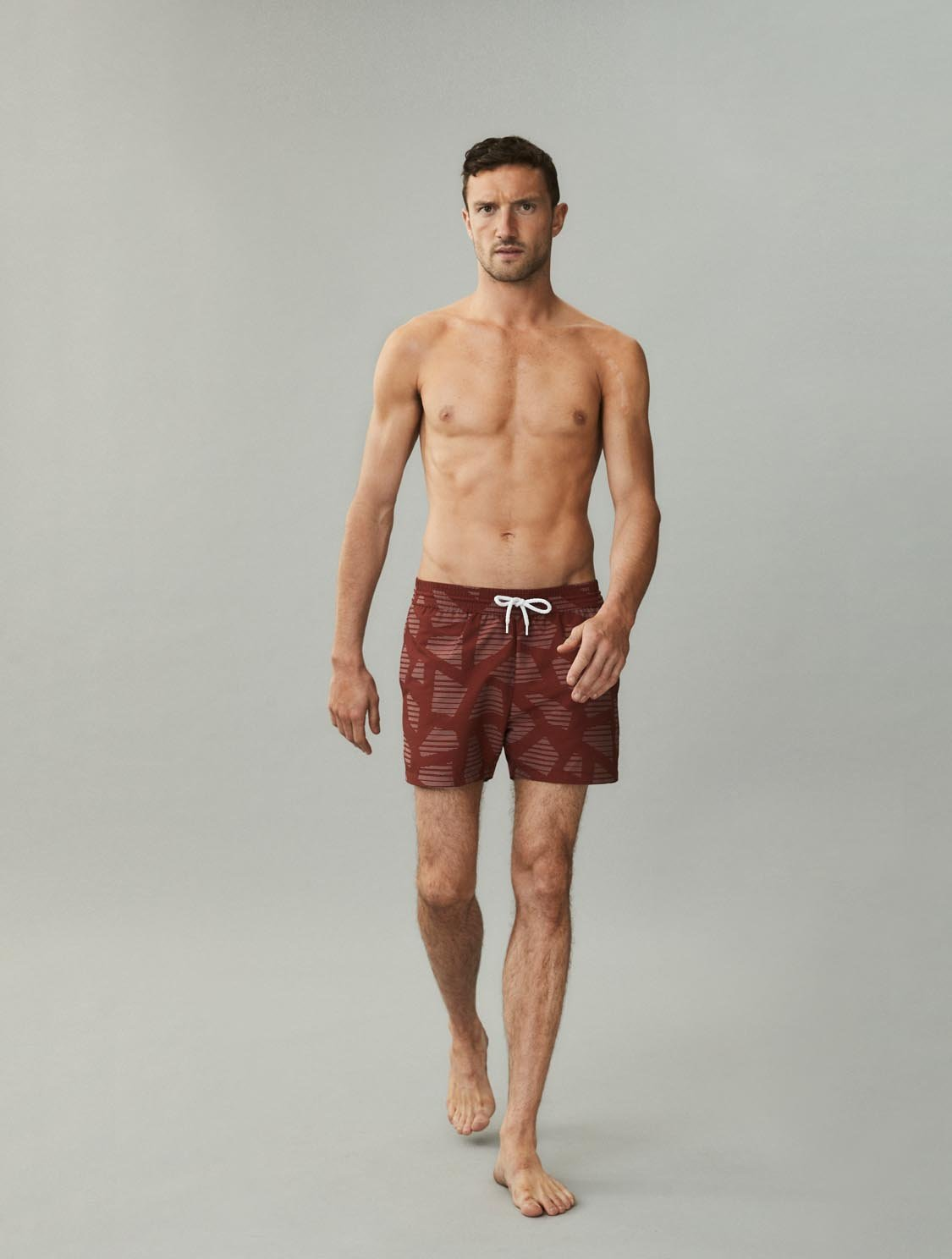 Modernist Jacquard Sport Swim Shorts