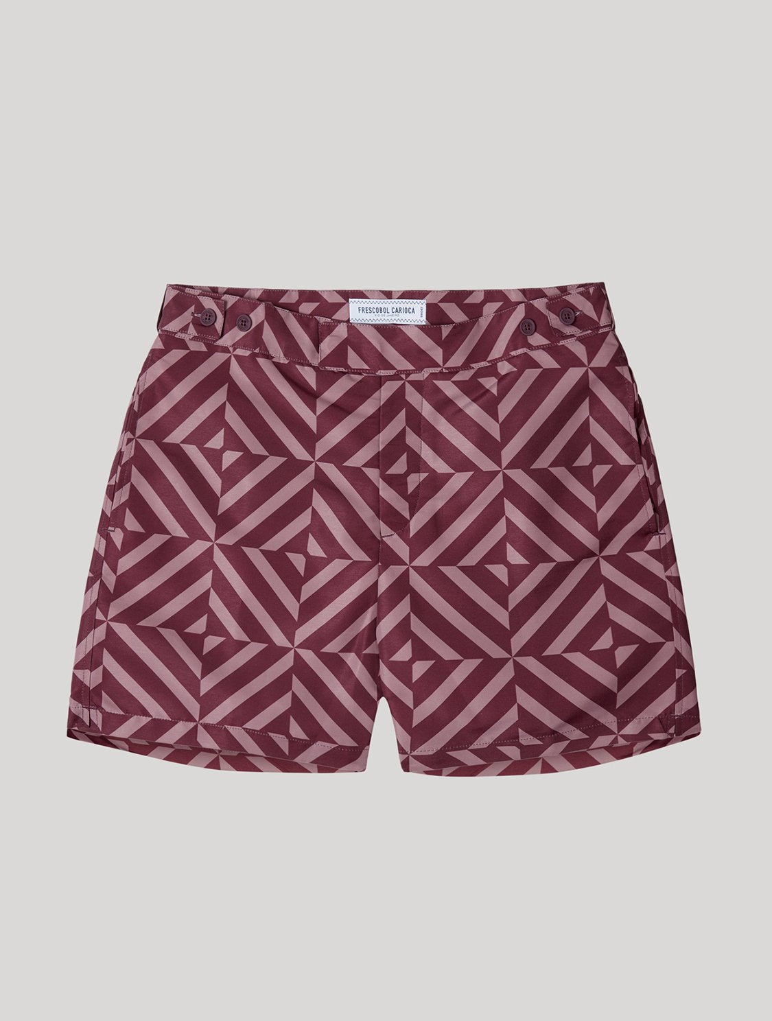 TAILORED SWIM SHORTS ANGRA TILE PRINT