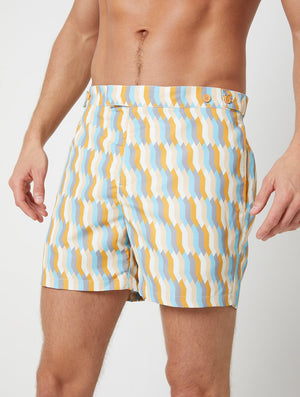 Mosaique Print Tailored Swim Shorts
