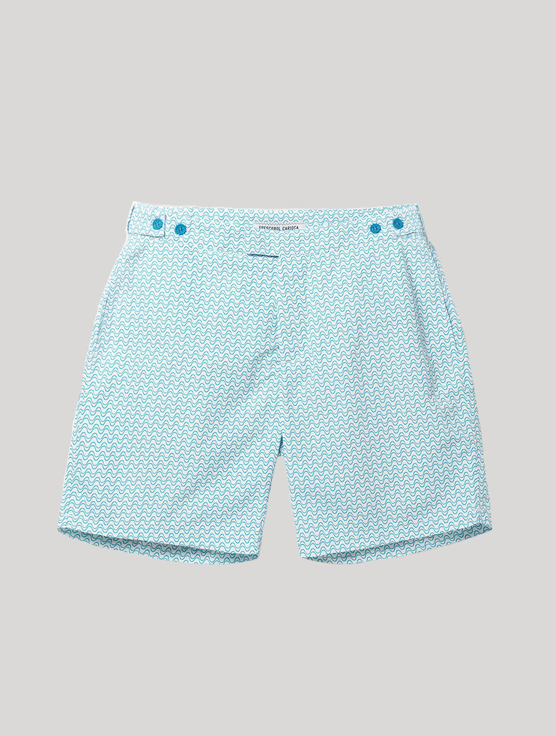 TAILORED SWIM SHORTS  WAVE PRINT