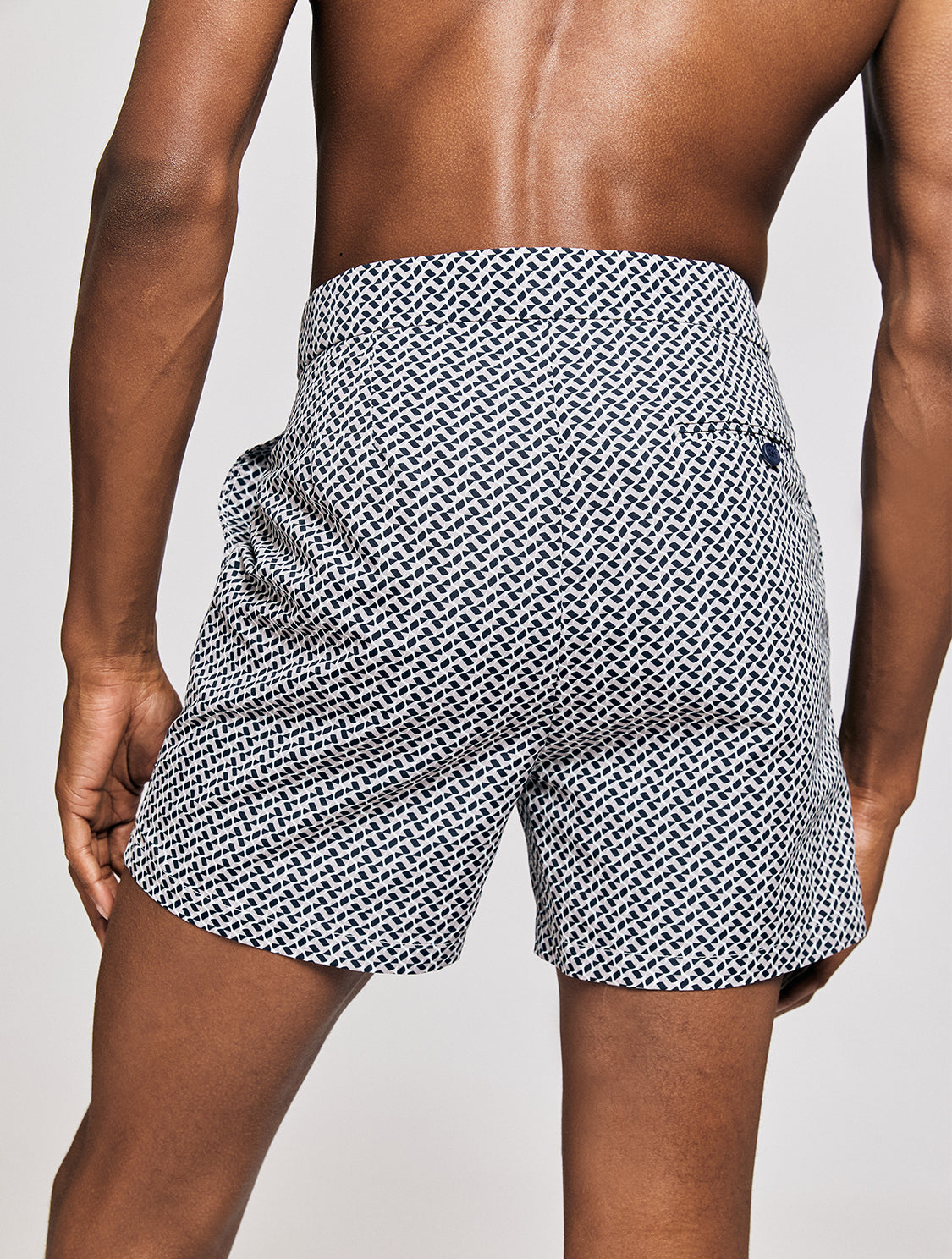 TAILORED SWIM SHORTS BEAM PRINT