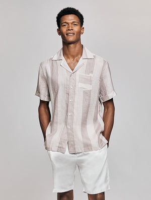 Cabana Stripe Camp Collar Shirt