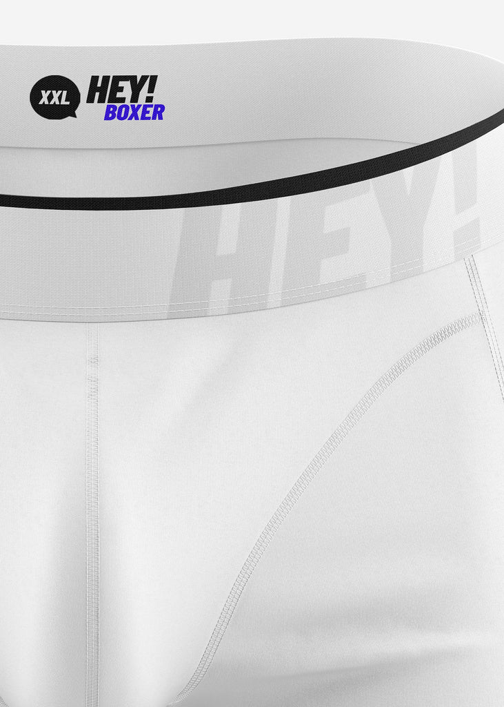 BOXERSHORTS (10x-Pacco) <br /><b>JUST WHITE</b>