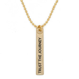 Bar Pendant-Trust the Journey