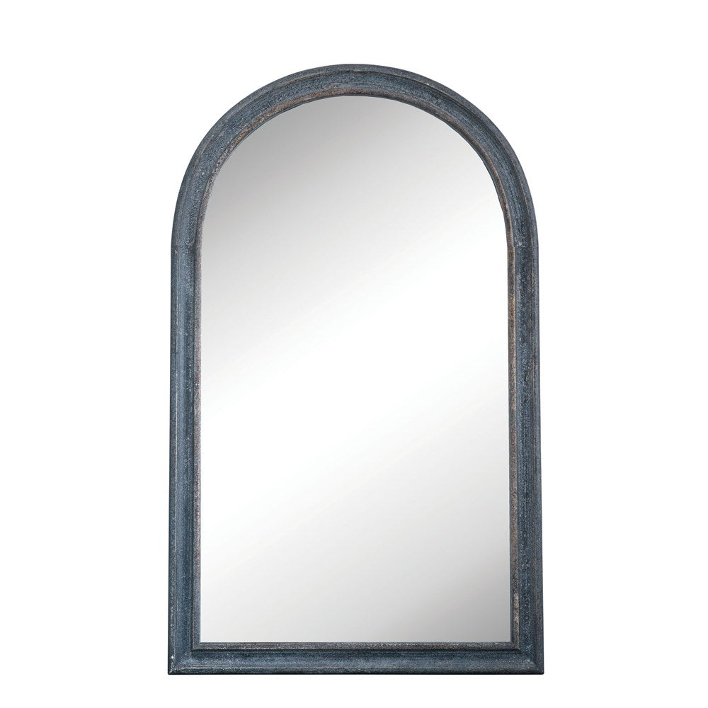 Wall Mirror Distressed Black