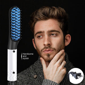 Straightening Hair and Beard Brush