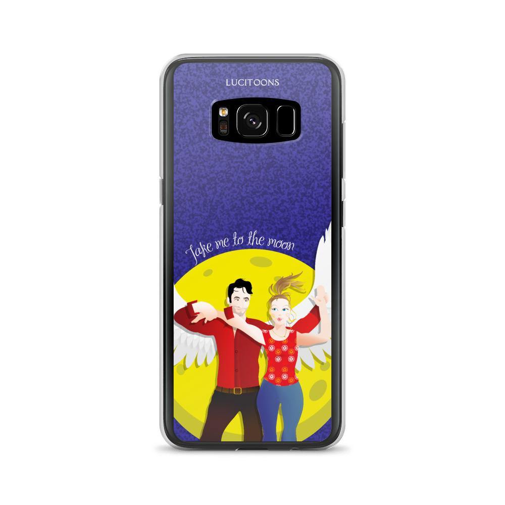 Lucifer - Take me to the Moon - Samsung Case - Galaxy S8 - DeckerstarICase, LuciferCartoon, LuciferCase, LuciferICase, LuciferMorningstar