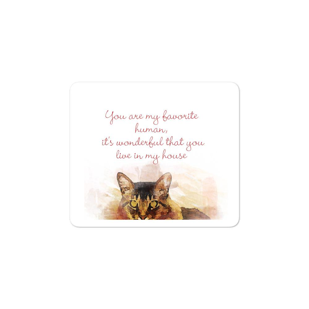 Cute Cat with phrase - Bubble-free stickers - OlaFan