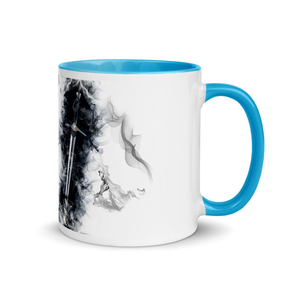 Geralt silver sword Mug with Color Inside - OlaFan