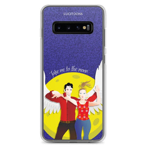 Lucifer - Take me to the Moon - Samsung Case - Galaxy S10+ - DeckerstarICase, LuciferCartoon, LuciferCase, LuciferICase, LuciferMorningstar