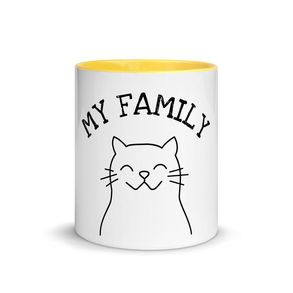 Cat Mug with Color Inside My Family - OlaFan