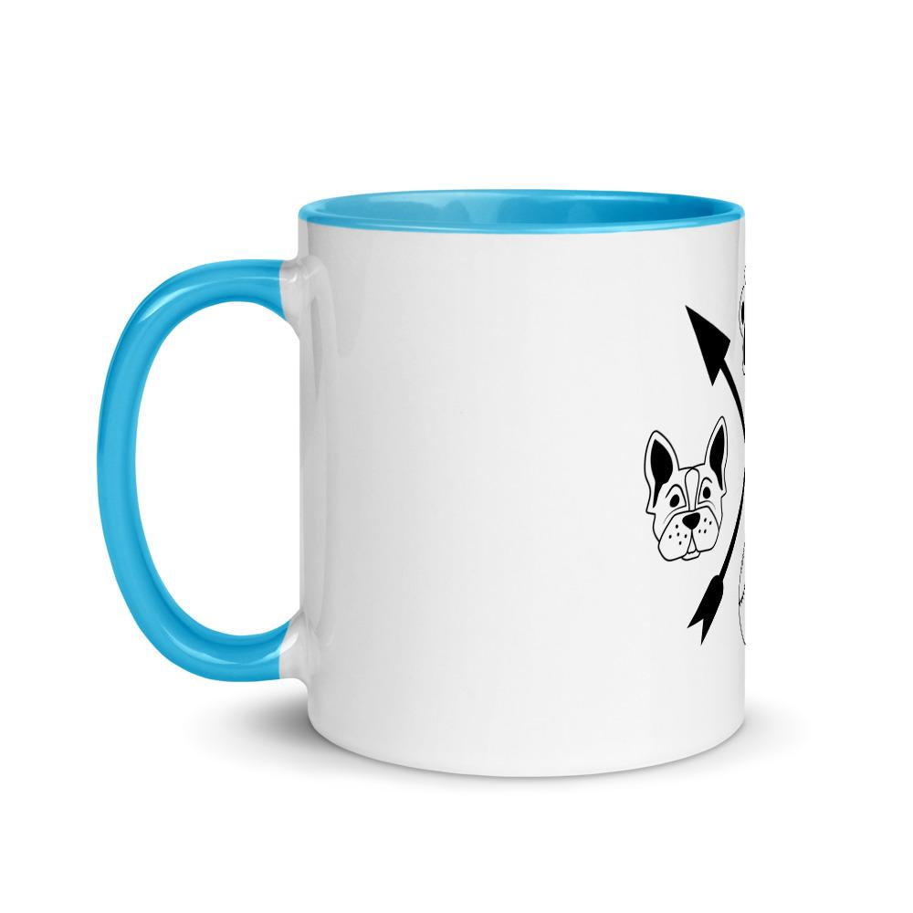 Cat and Dog Mug with Color Inside Pets Animals