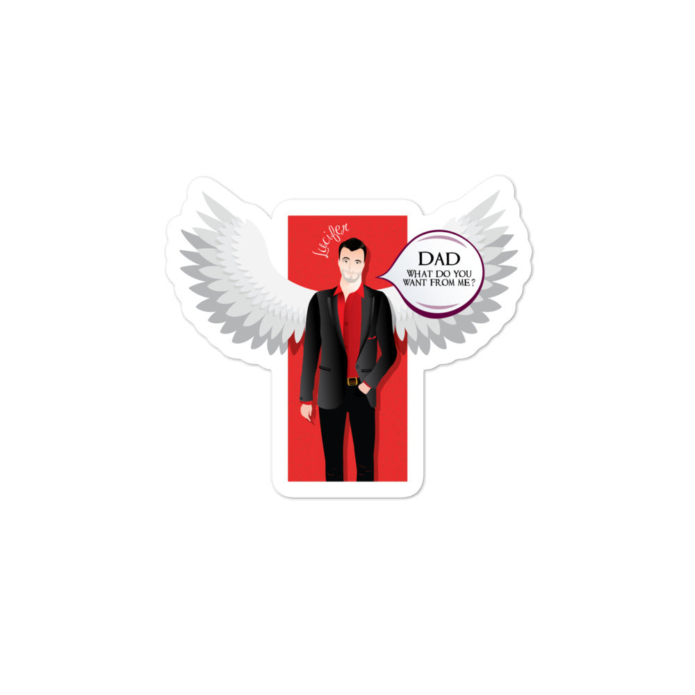 Lucifer- LuciToons funny version of Lucifer TV show characters-Bubble-free stickers - olafan