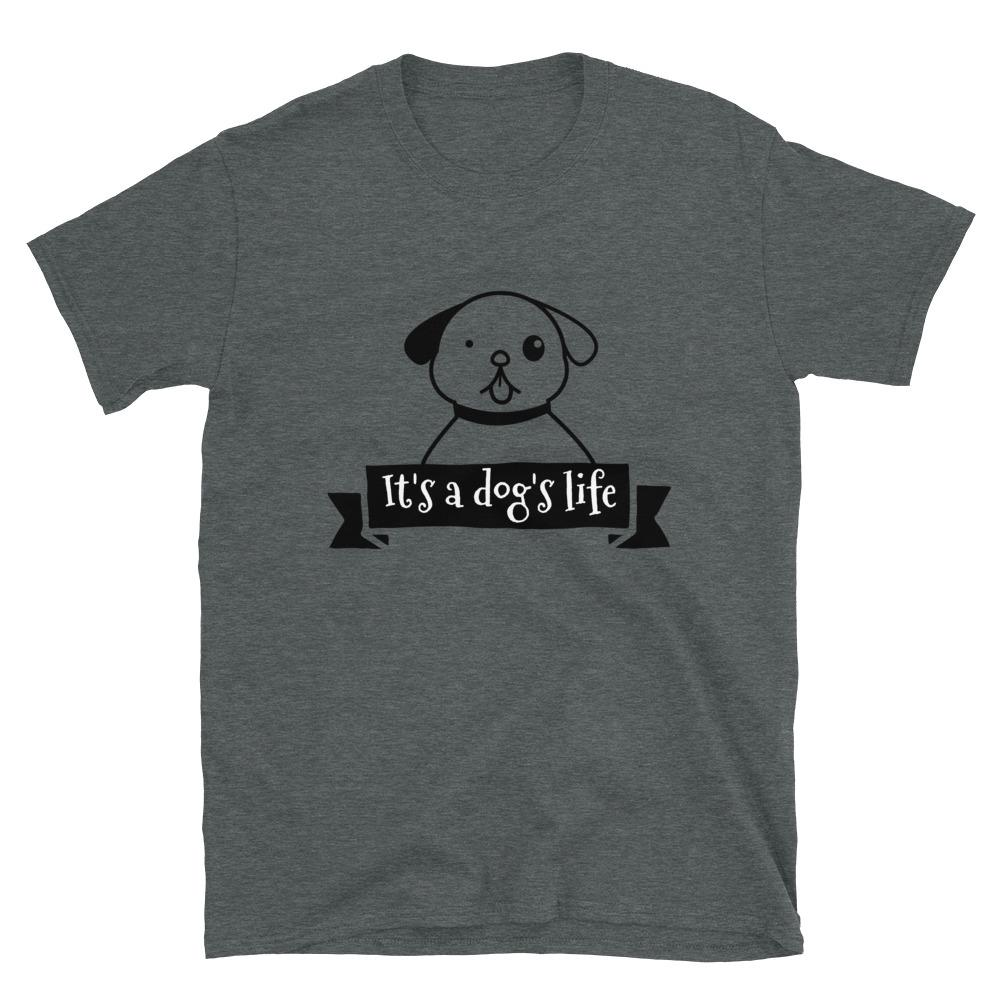 Dog with customizable phrase Short-Sleeve Unisex T-Shirt - OlaFan