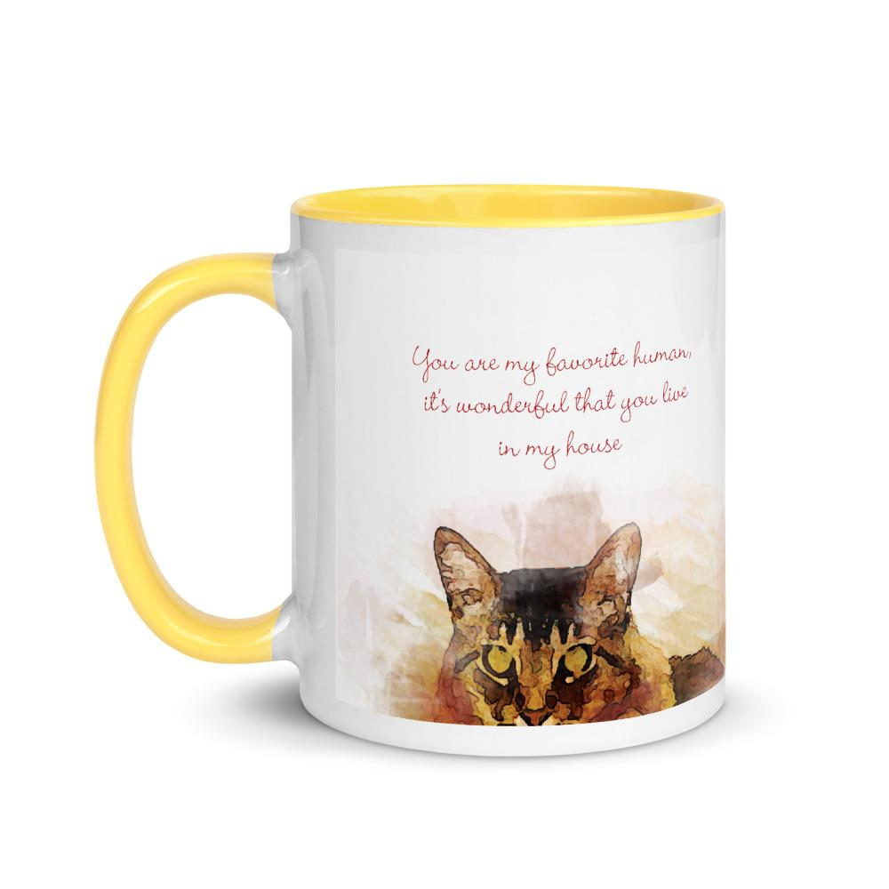 Cat Cute Mug with Color Inside