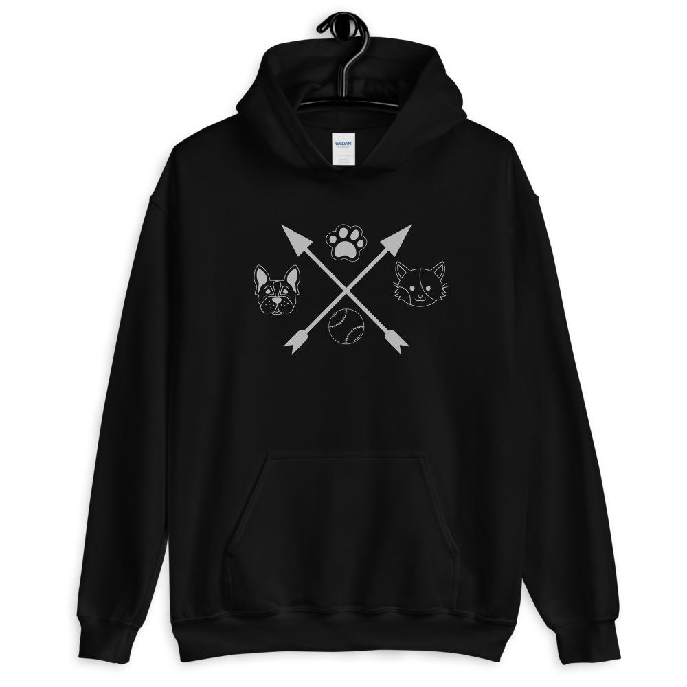 Cat and Dog Unisex Hoodie pets Animals