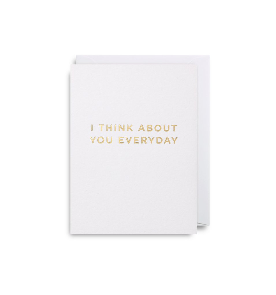 I Think About You - Mini Card