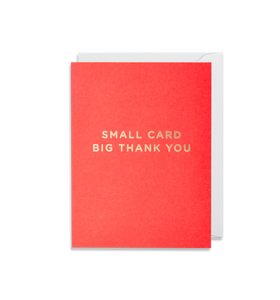 Small Card Big Thank You - Mini Card