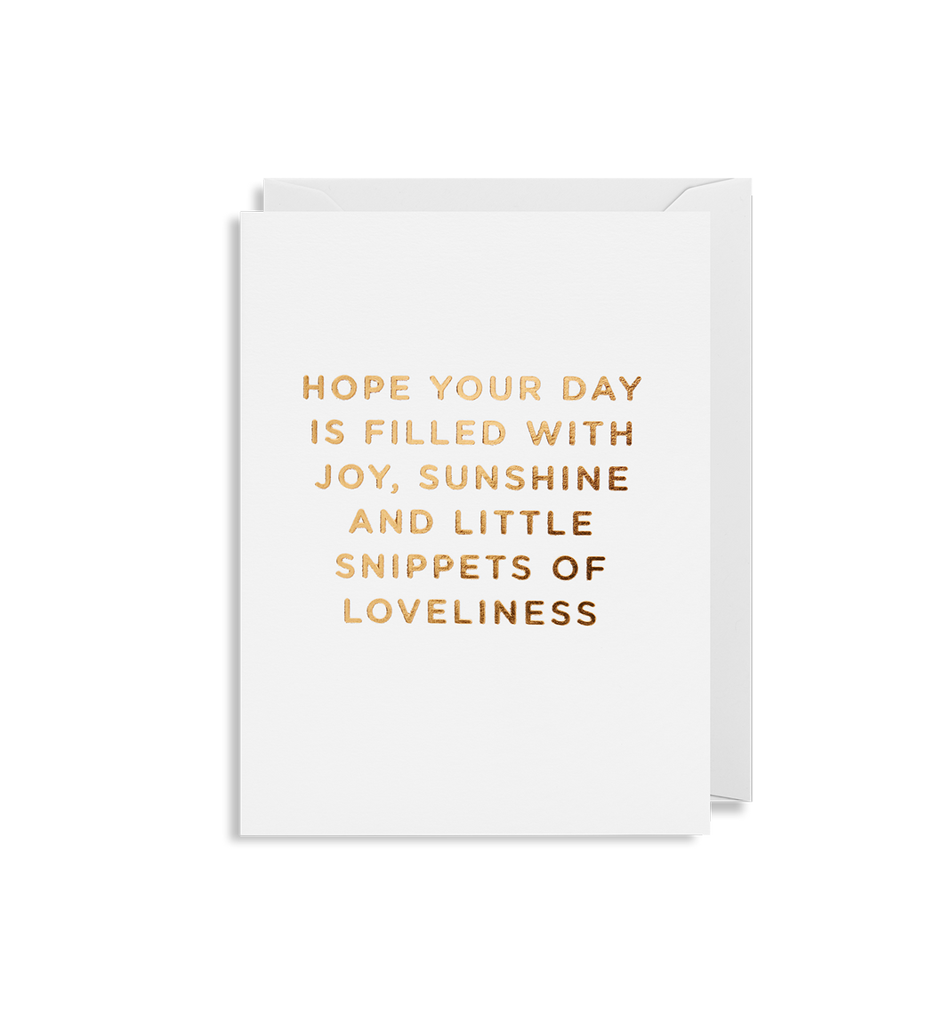 Hope your Day is Filled with Joy - Mini Card