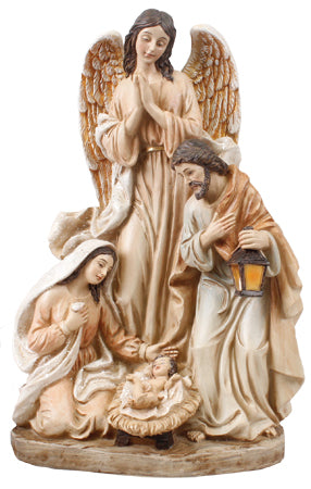 The Holy Family and Angel